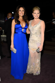 Laura Benanti's vibrant cobalt blue dress showed off just a touch of skin at the 2013 Tony Awards.