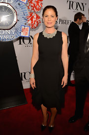 Maura Tierney wore a little black dress with a ruffled skirt to the 2013 Tony Awards.