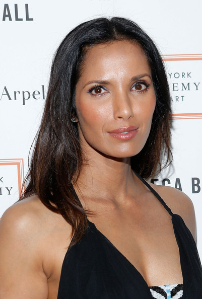 More Pics of Padma Lakshmi Long Straight Cut (1 of 7) - Long Hairstyles Lookbook - StyleBistro