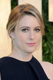 Greta Gerwig swept her hair back in a romantic loose chignon for the 2013 Vanity Fair Oscar party.