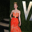 Elizabeth Banks Wore Alexander McQueen at the Vanity Fair Oscars Party 2013