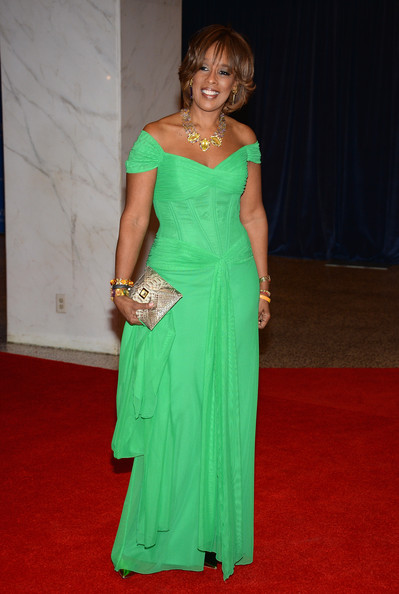 More Pics of Gayle King Off-the-Shoulder Dress (1 of 4) - Gayle King Lookbook - StyleBistro