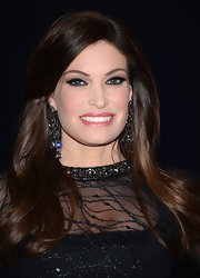 A super shiny pink lip gloss topped off Kimberly Guilfoyle's red carpet beauty look.