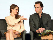 Keri Russell was modest yet classy in a pink button-down shirt at the 2013 Winter TCA Tour.