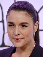 Jessie Ware slicked her hair back in a tight ponytail for the YouTube Music Awards.