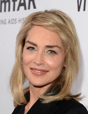 Sharon Stone achieved a youthful look with this textured mid-length bob at the amfAR Inspiration Gala.