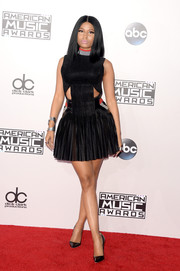 Nicki Minaj struck the perfect balance between sporty, sexy, and sweet with this Alexander Wang cutout tutu dress at the American Music Awards.