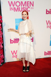 Hayley Williams stayed on trend with this striped white crop-top at the Billboard Women in Music luncheon.