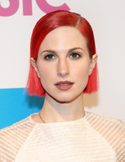 Hayley Williams styled her signature red hair into a sleek side-parted 'do for the Billboard Women in Music luncheon.