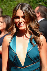 Nikki Reed went boho with this center-parted wavy 'do at the Creative Arts Emmy Awards.