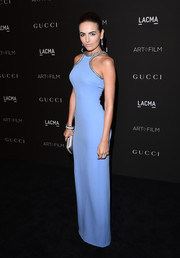 Camilla Belle looked impossibly svelte in her pastel-blue Gucci column dress at the LACMA Art + Film Gala.