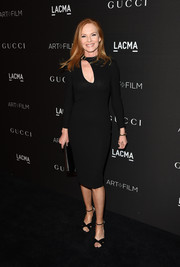 Marg Helgenberger looked ageless in a figure-hugging LBD with a cleavage-baring cutout during the LACMA Art + Film Gala.
