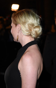 Kirsten Dunst opted for a messy-chic loose bun when she attended the LACMA Art + Film Gala.