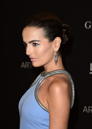 Camilla Belle slicked her locks back into a twisted bun for the LACMA Art + Film Gala.