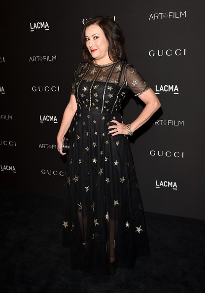 Jennifer Tilly looked darling in a star-embellished black gown during the LACMA Art + Film Gala.