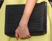 Jessica Alba carried an oversized woven clutch by Narciso Rodriguez for Bottletop at the 2014 MTV Movie Awards.