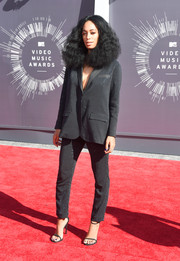 Even though we miss her usual wild patterns, we loved Solange Knowles' chic, sparkling H&M Studio Collection suit.