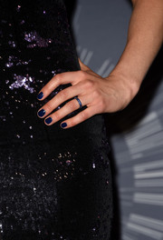 Taylor Schilling matched her gemstone ring to her mani.