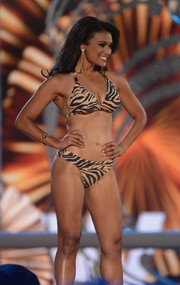 Nina Davuluri looked fiercely sexy in a tiger-print halter bikini during the 2014 Miss America competition.
