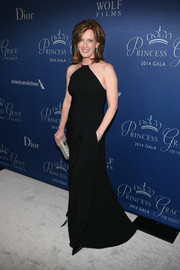 Anne Sweeney kept it classic in a black halter gown at the Princess Grace Awards Gala.