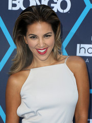 Liz Hernandez wore her hair in slicked-back, high-volume layers at the Young Hollywood Awards.