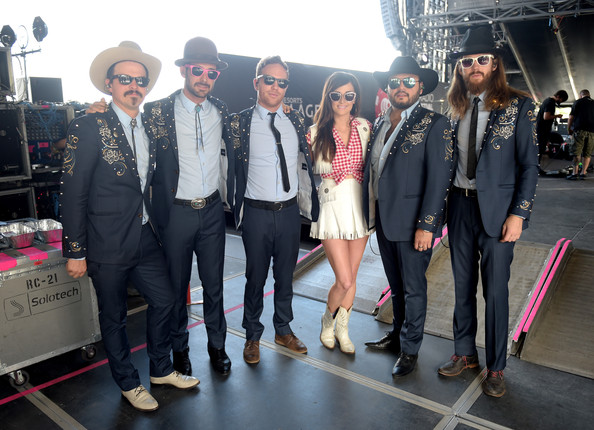 More Pics of Kacey Musgraves Long Side Part (1 of 9) - Kacey Musgraves Lookbook - StyleBistro [adam keafer,jared kneale,kacey musgraves,adam ollendorff,kyle ryan,misa arriaga,iheartradio music festival village - backstage,l-r,fashion,event,team,fashion design,photography,tourism,fashion accessory,suit,flooring,performance,iheartradio music festival village,las vegas]
