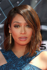 La La Anthony wore her hair down to her shoulders with just a hint of wave during the BET Awards.