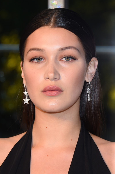 More Pics of Bella Hadid Jumpsuit (3 of 4) - Suits Lookbook - StyleBistro [hair,face,eyebrow,hairstyle,lip,beauty,chin,forehead,fashion,cheek,bella hadid,cocktails,alice tully hall,new york city,lincoln center,cfda fashion awards]