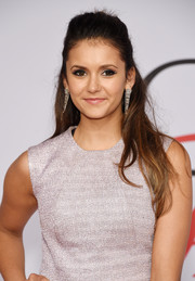 Nina Dobrev kept it youthful with this half-up 'do at the CFDA Fashion Awards.