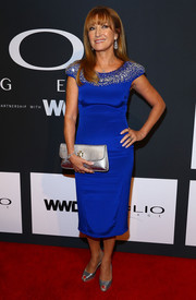 Jane Seymour looked ageless at the Clio Awards in an electric-blue sheath dress with a beaded neckline.