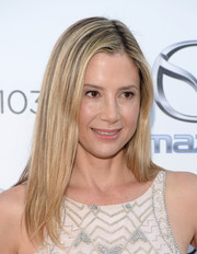 Mira Sorvino stuck to her usual straight side-parted style when she attended the Festival of Arts concert and pageant.