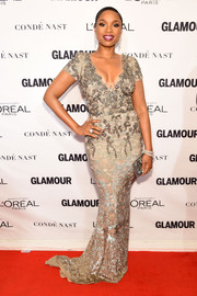 Jennifer Hudson looked divine in an opulently beaded Marchesa gown at the Glamour Women of the Year Awards.