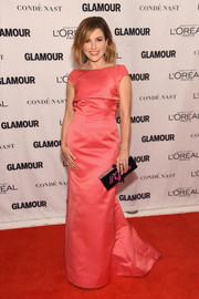 Sophia Bush looked regal at the Glamour Women of the Year Awards wearing this Zac Posen gown in a vibrant coral hue.