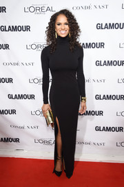 Misty Copeland was classic and sophisticated in a black turtleneck gown at the Glamour Women of the Year Awards.