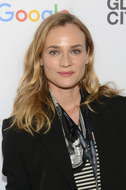 Diane Kruger wore a casual wavy 'do when she attended the Global Citizen Festival.