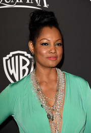 Garcelle Beauvais looked quite the diva with her voluminous top knot at the InStyle and Warner Bros. Golden Globes party.
