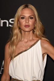 Rachel Zoe kept her signature boho waves when she attended the InStyle and Warner Bros. Golden Globes party.