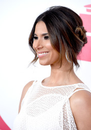 Roselyn Sanchez swept her hair back into a loose braided updo for the Latin Grammy Person of the Year event.