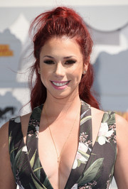 Jillian Rose Reed styled her signature red locks into a high ponytail for the MTV Movie Awards.