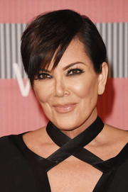 Kris Jenner looked a little demure with her hair tucked behind her ears during the MTV VMAs.