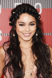 Vanessa Hudgens looked super charming with her crown braid and boho waves at the MTV VMAs.