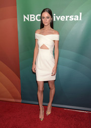 Alexandra Park was trendy and cute in an off-the-shoulder cutout LWD during the NBCUniversal Summer Press Day.