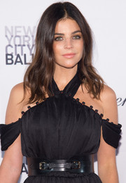 Julia Restoin-Roitfeld accessorized with an oversized leather belt for a touch of edge to her gown at the New York City Ballet Fall Gala.
