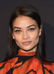 Shanina Shaik injected a '60s vibe with a perfectly winged cat eye.