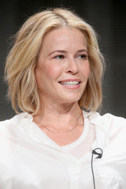 Chelsea Handler sported a stylish textured bob at the 2015 Summer TCA Tour.