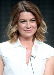 Ellen Pompeo wore casual yet cute shoulder-length waves at the 2015 Summer TCA Tour.