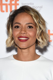 Carmen Ejogo was sweetly coiffed with this short wavy 'do at the TIFF premiere of 'Born to be Blue.'