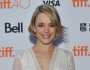 Rachel McAdams looked adorable wearing this youthful bob during Jason Reitman's Live Read at TIFF.