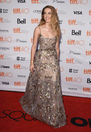 Amber Heard took our breath away with this ornately embellished Elie Saab Couture gown she wore to the TIFF premiere of 'Maggie's Plan.'