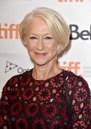 Helen Mirren attended the 'Trumbo' premiere at TIFF wearing her signature blonde bob.